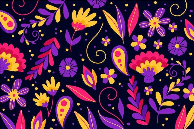 Fundo tradicional mexicano colorido