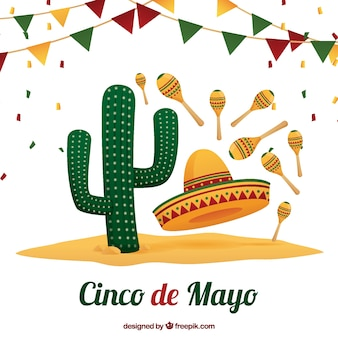 Fundo, tradicional, mexicano, elementos
