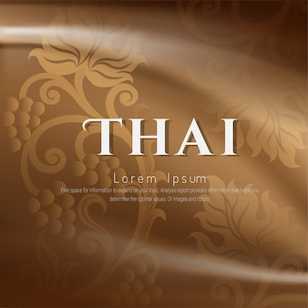 Fundo tradicional tailandês, as artes do conceito de tailândia ,.