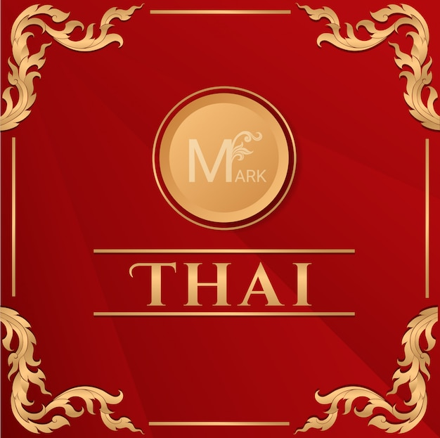 Fundo tradicional tailandês, conceito das artes da tailândia, ilustração vetorial.