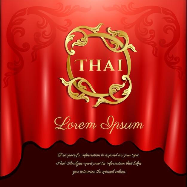 Fundo tradicional tailandês, conceito das artes da tailândia