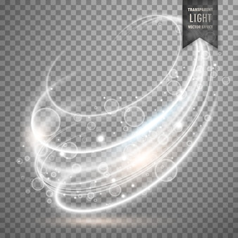 Fundo transparente branco efeito luz do vetor