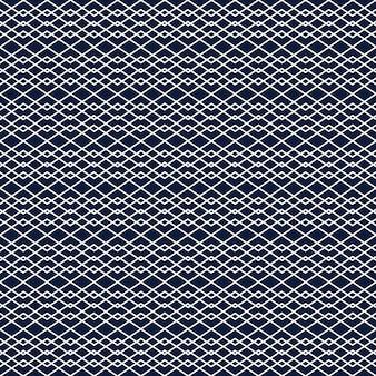 Fundo transparente com linhas brancas formando ornamento de losango geométrico em fundo azul