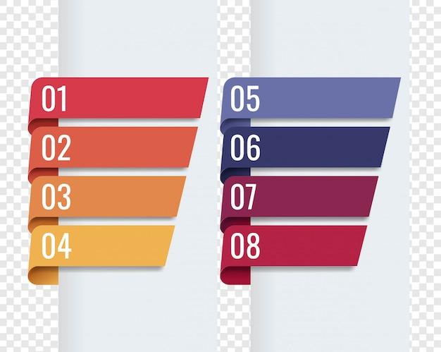 Fundo transparente de fitas coloridas