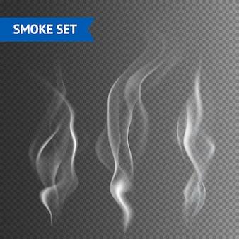 Fundo transparente de fumo