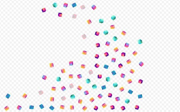Fundo transparente do elemento do arco-íris. papel confete de metal brilhante. estrutura padrão de tijolo. modelo de perspectiva de caixa iridescente.