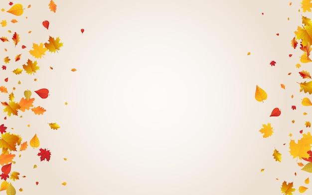 Fundo transparente do vetor das folhas vermelhas. decoração floral frame. design de folhagem de novembro dourado. ilustração abstrata.