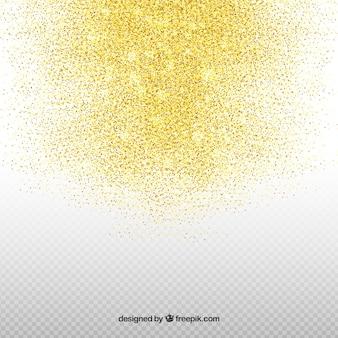 Fundo transparente glitter dourado