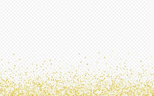 Fundo transparente luxuoso dos cacos dourados. cartão rich sparkle. papel de parede de efeito de fragmento de ouro. padrão feliz de lantejoulas.