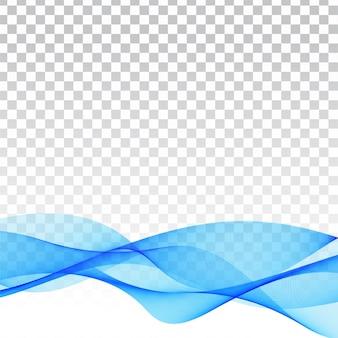 Fundo transparente moderno de onda azul