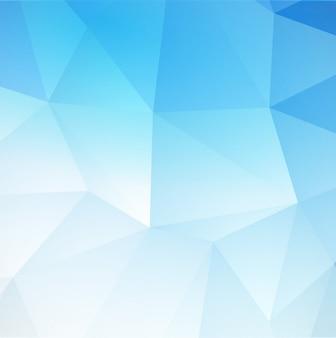 Fundo triangular abstrato azul.