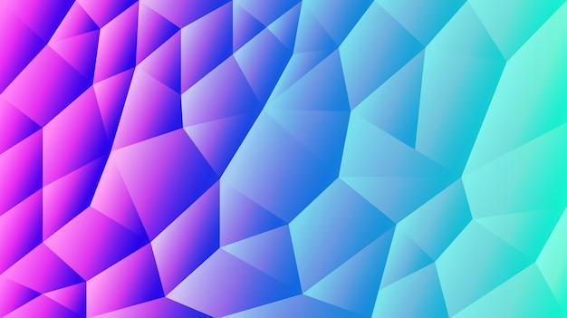 Fundo triangular abstrato gradiente fundo vermelho e azul ilustrador