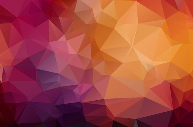 Fundo triangular amarrotado geométrico vermelho escuro
