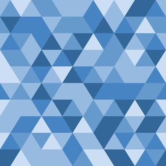 Fundo triangular azul. padrão geométrico sem emenda. triângulos azuis. modelo de baixo poli. textura de cristal. ilustração eps10 do vetor. baixa pixelização.