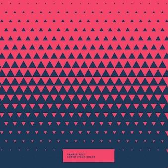 Fundo triângulo abstrato vermelho e azul