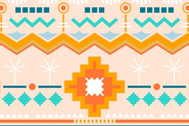 Fundo tribal pastel, desenho vetorial de padrão sem emenda