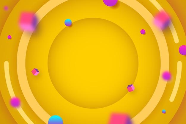 Fundo tridimensional com cubos