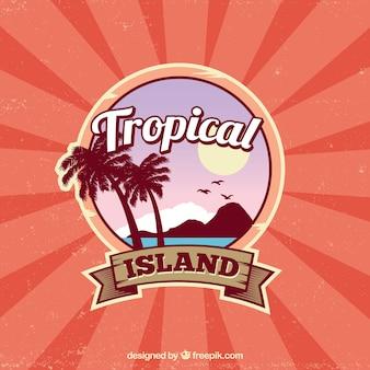 Fundo tropical clássico com estilo vintage