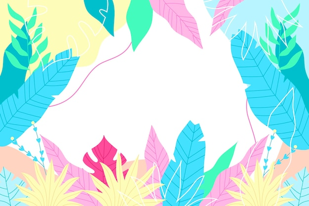 Fundo tropical colorido com espaço vazio