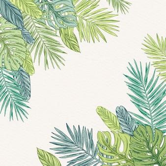 Fundo tropical com espaço vazio