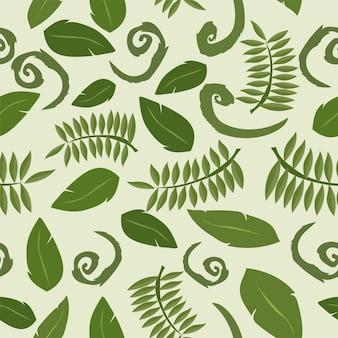 Fundo tropical com folhas. teste padrão floral sem emenda - vetor