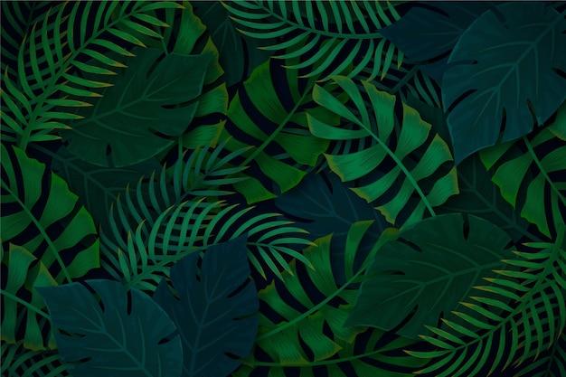 Fundo tropical com vegetação vegetal