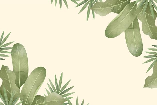 Fundo tropical criativo com espaço vazio