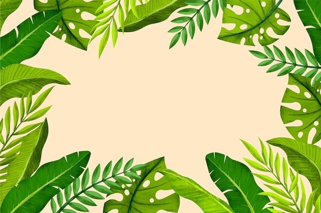 Fundo tropical de folhas verdes