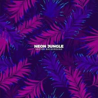 Fundo tropical de néon