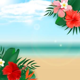 Fundo tropical exótico natural vazio abstrato
