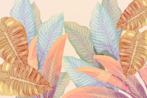 Fundo tropical vintage