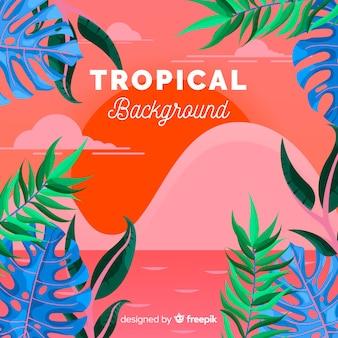 Fundo tropical
