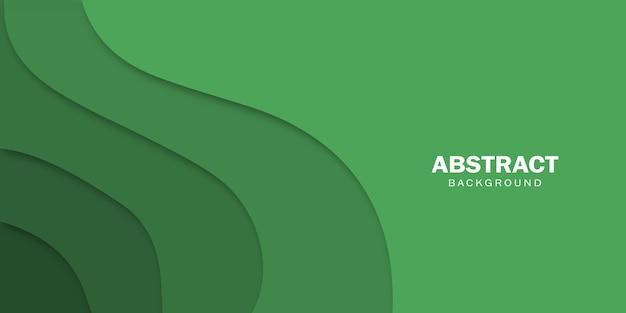 Fundo verde abstrato com formas de corte de papel