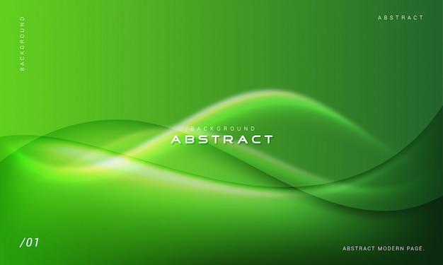 Fundo verde abstrato ondas modernas