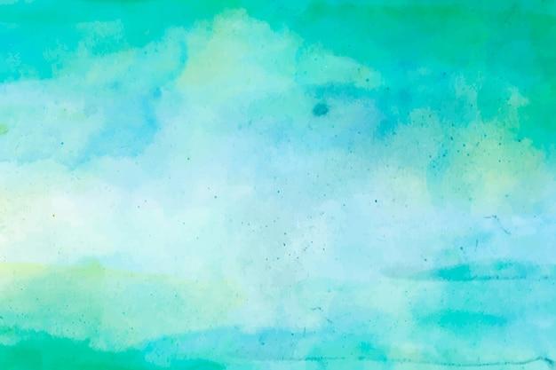 Fundo verde aquarela abstrato