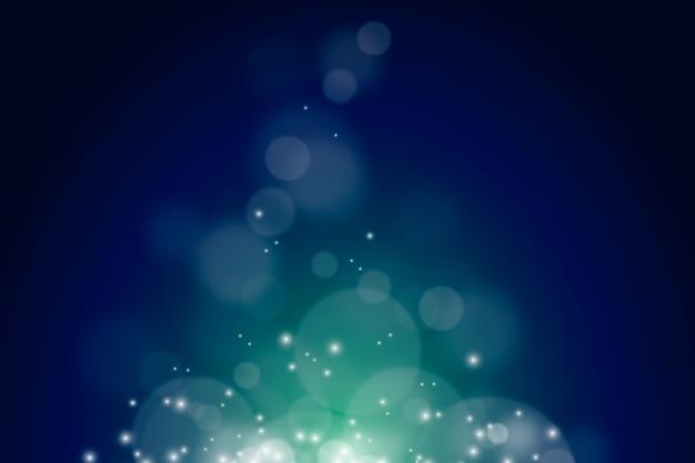 Fundo verde bokeh com brilhos
