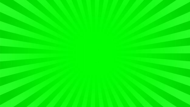 Fundo verde brilhante raios