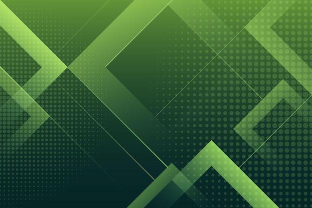 Fundo verde com efeito de meio-tom e quadrados