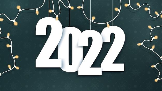 Fundo verde com espaço para texto de 2022