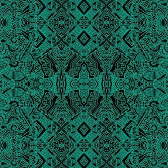 Fundo verde com formas astecas