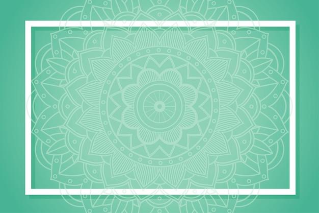 Fundo verde com padrões de mandala