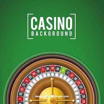 Fundo verde com roleta do casino