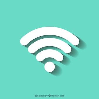 Fundo verde com símbolo wifi