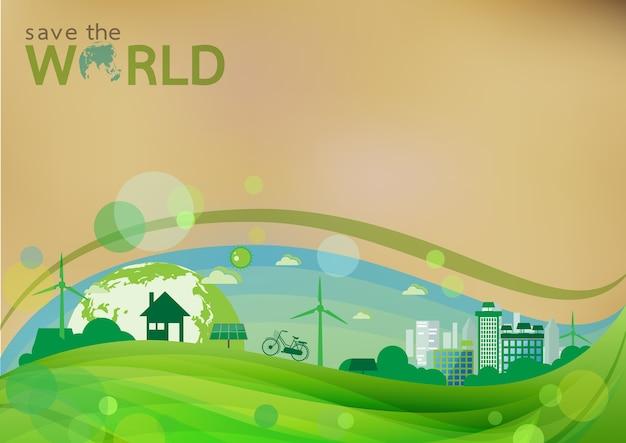 Fundo verde conceito eco.