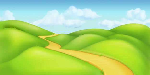 Fundo verde da paisagem