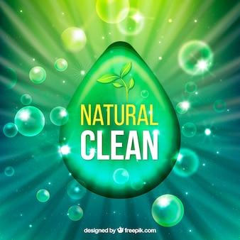 Fundo verde de detergente para roupa