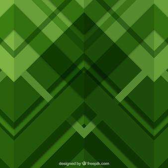 Fundo verde de formas geométricas