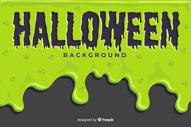 Fundo verde de halloween com design plano