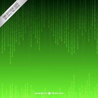 Fundo verde do código binário