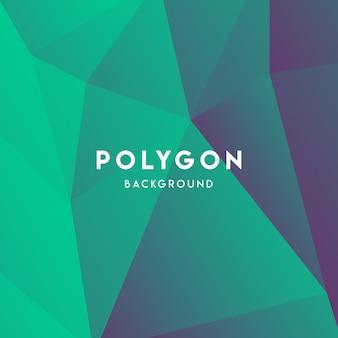 Fundo verde do polígono